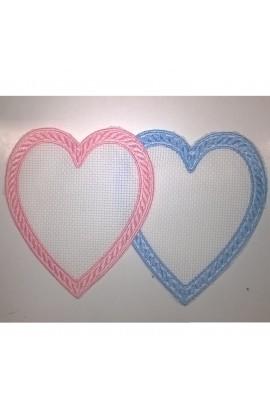 Applicazione cuore in tela aida
