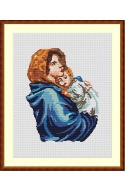 Tela da ricamo Madonna del Ferruzzi