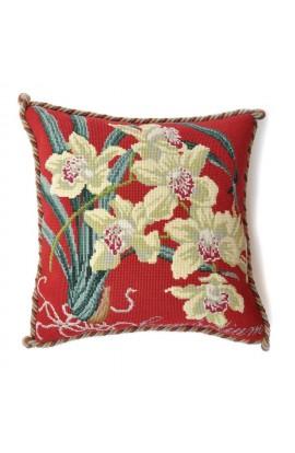 "Cuscino E. Bradley ""Cymbidium orchid"""