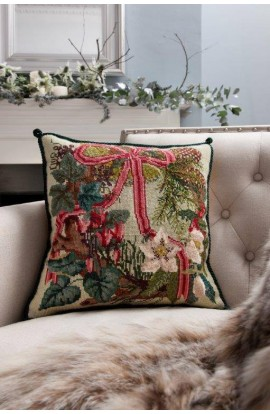 Cuscino Elizabeth Bradley ghirlanda di Natale