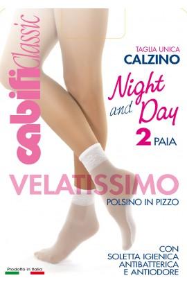 """2 paia """"Calzino elasticizzato Night and Day"""""""
