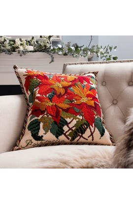 Cushion Elizabeth Bradley POINSETTIA