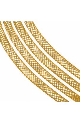 Rete tubolare per collane color oro