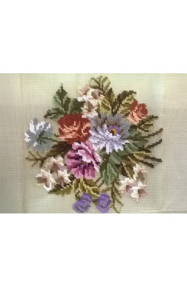 Embroidery canvas flowers