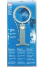 Magnifying glass with light and bracket